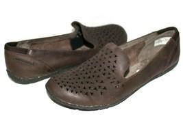 ❤️MERRELL Mimix Romp Brown Cut-Out Leather Comfort Slip-On Flat 7 M NEW! L@@K!18 - $37.04