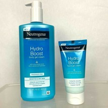 Neutrogena Hydro Boost Body Gel Cream 16 OZ and 3 OZ Hand Gel Travel Size  - $18.80