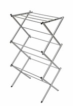 STORAGE MANIAC 3-tier Folding Anti-Rust Compact Steel Clothes Drying Rac... - £28.65 GBP