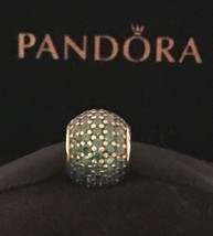 Authentic Pandora Pave Lights Green CZ Charm Pandora 925 Sterling Silver Charm - $29.99