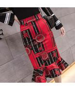 Fishtail Printed High Waist Pencil Skirt - $35.00