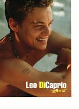 Leonardo Dicaprio teen magazine pinup clipping shirtless the beach movie nice