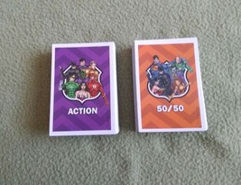 JUSTICE LEAGUE ROAD TRIP Game replacement pieces 50 50/50 CARDS 50 ACTIO... - $9.49