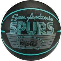 Spalding Team Spurs  Basketball Outdoor Indoor Full Size NBAGameBall Rubber+Pump - $47.23