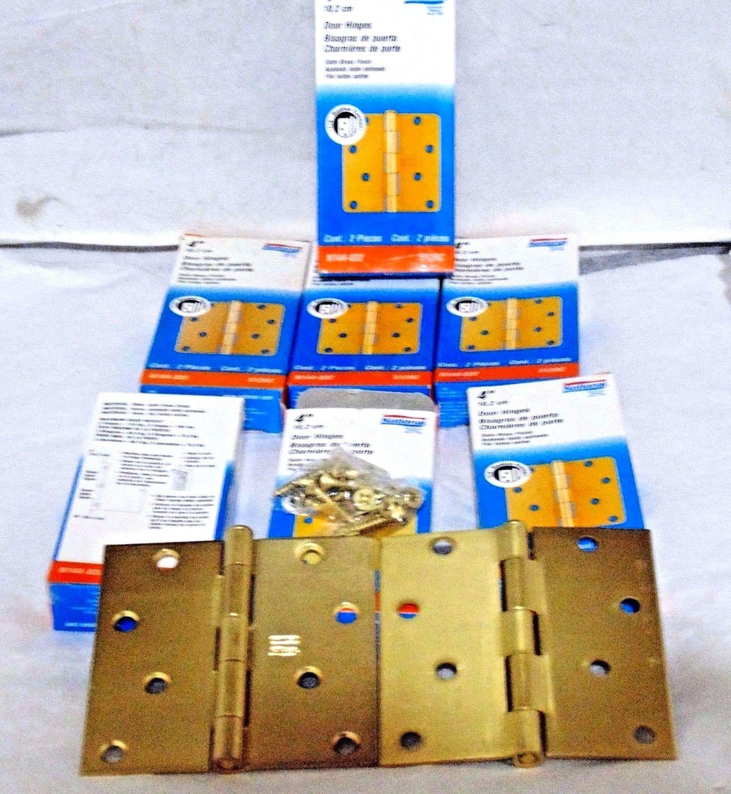 National Hardware N236-020 DPBF248 Swing Clear Hinge in Satin Brass