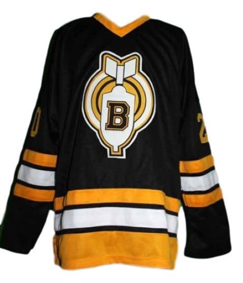 Carl racki  20 youngblood movie thunder bay bombers hockey jersey black  1