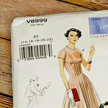 Vogue Vintage Pattern V8999 Dress Bolero Original 1954 Design Size E5 14-22 image 2