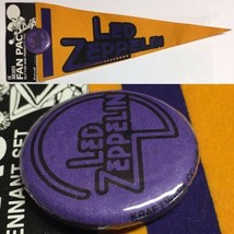 Vintage 80s Led Zeppelin Rock Roll Music MINI Pennant Pin Pinback - $9.85