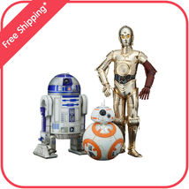 Star Wars The Force Awakens C3PO R2D2 BB8 ArtFX+ statue figures by Kotob... - $96.95