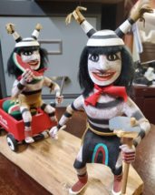 Navajo Kachina Double Watermelon Clown Kachina Handcrafted and Signed on base image 2