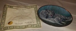 FRANKLIN MINT, NATIONAL WILDLIFE FEDERATION, WHITE TIGERS PLATE MICHAEL ... - $27.75