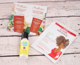 Samples -Curls Unleashed, Shea Moisture Smooth & Tame, Curls Blueberry Leave In