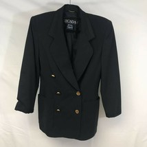 Escada By Margaretha Ley Womens Suit Jacket Black Double Breasted Pocket... - $45.54
