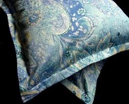 2 Boudoir Toss Pillow Cover Sham 12x16 New Ralph Lau JAMAICA BLUE PAISLE... - $29.55