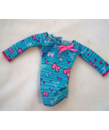 Barbie Doll Maternity Top  Clothes Blue with Bows - $14.99