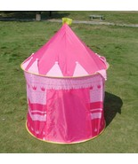 Portable Pink Pop Up Play Tent Kids Girl Princess Castle Fairy Outdoor i... - $24.82