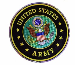 "Wholesale Lot 12 U.S. Army Green Emblem 12"" Reflective Decal Bumper Sticker - $22.88"