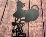 Metal art- 16 gauge steel in black- Alice In Wonderland 'We're all Mad Here' wal