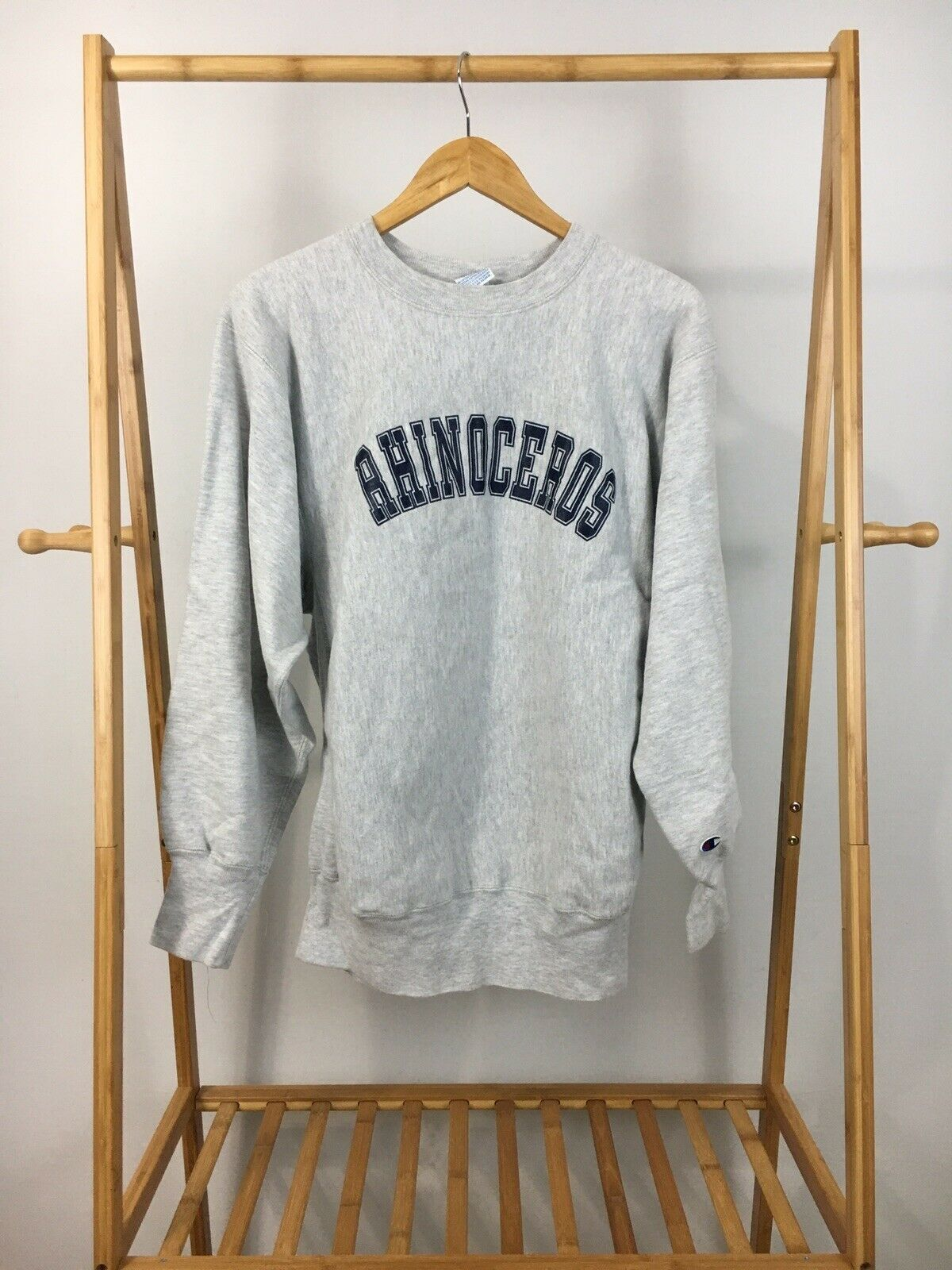 RARE VTG Champion Reverse Weave Rhinoceros Crewneck Sweatshirt Size XL USA