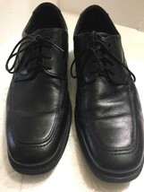 CLARKS Mens Black Leather Dress Casual Shoes Lace Oxford SIZE US 12 M SHARP - $29.99