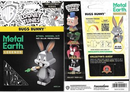 Looney Tunes Bugs Bunny Metal Earth Legends 3-D Laser Cut Steel Model Ki... - $11.60