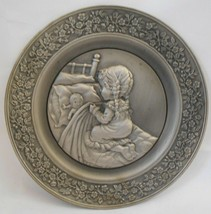 Hallmark Little Gallery 1979 So Much of What Pewter Plate Carol Bryan Ron Raymer - $19.99