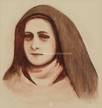 "ST THERESE of LISIEUX (Saint Theresa)—sepia—11x14""—Catholic Art—Archival... - $23.95"