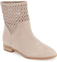 MICHAEL KORS New Sunny Suede Laser Cut Boots Ankle Western Booties Natural 8.5 - $59.97