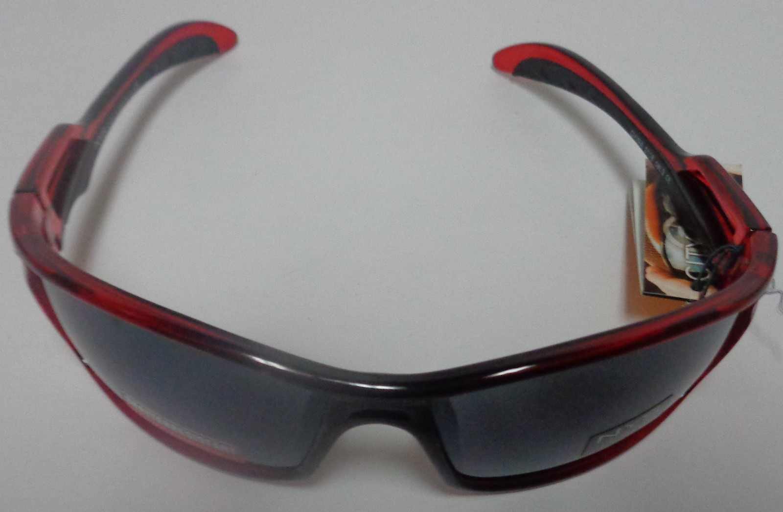 City Shades Sport Shatter Resistant Sunglasses Red Black NWT