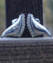 Vintage Vendome Rhinestone Post Earrings - $44.00