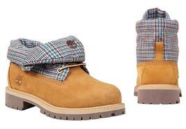Timberland TODDLER KIDS Unisex Roll-Top WATERPROOF Yellow Boots Shoes 97... - $959,56 MXN