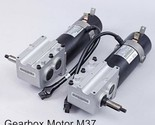 <MSP>New M37 Gearbox DC 24V Motor 4.5A 400W 4800rpm with brake power wheel - ₹49,175.79 INR