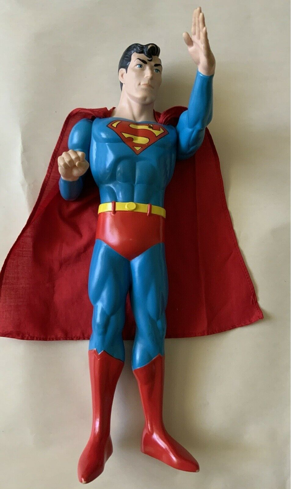 1988 Authentic DC comics Superman Doll Cape Action Figure 15 inch Toy VERY RARE - $44.99