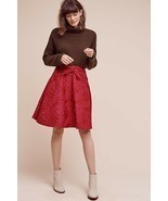 New $168 Anthropologie Freesia Bow Skirt by Eva Franco RED/PINK Size 4 - £33.68 GBP