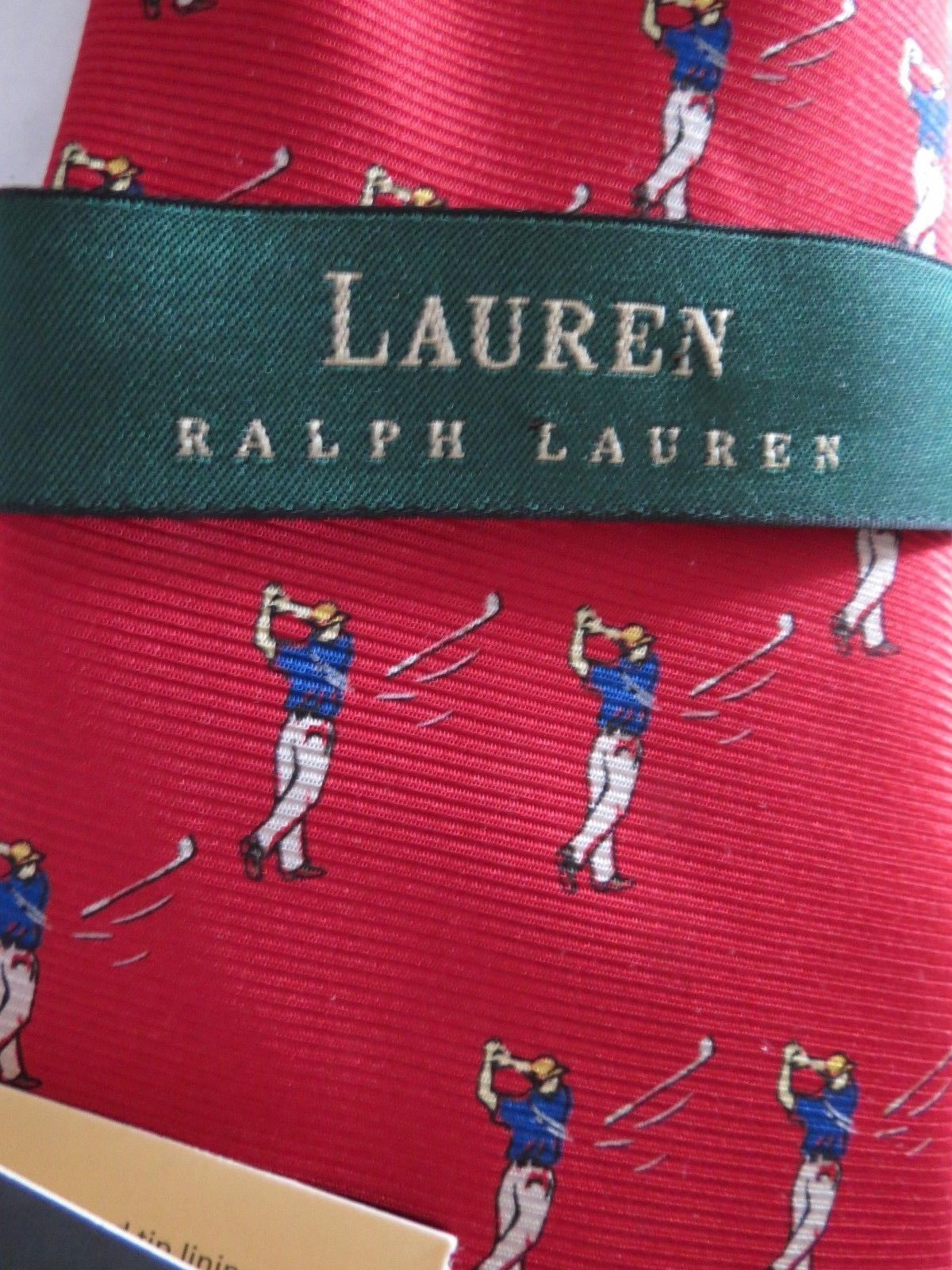 44c609f513 Nwt Ralph Lauren Polo Red Golf Necktie 100% and 50 similar items