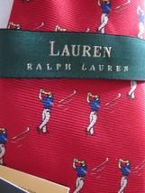 NWT Ralph Lauren Polo Red GOLF Necktie 100% Silk Tie Made USA New LRL - $18.80