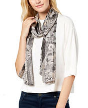 Echo Tiled Together Silk Oblong Scarf (Black, One Size) - $45.96
