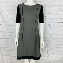 Elie Tahari Women's Dress 8 Gray Black Accent - $29.92