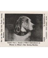 Vintage Trade Card New England Agency Sewing Hound Dog Boston Massachusetts - $5.93