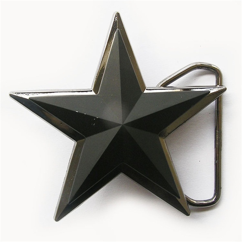 Primary image for Double Layer Matter Black 3D Star Belt Buckle Gurtelschnalle Boucle de ceinture