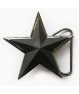 Double Layer Matter Black 3D Star Belt Buckle Gurtelschnalle Boucle de c... - £10.92 GBP