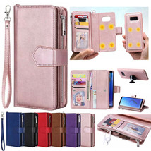 Samsung S20+ Note 10+ S10Plus S8/S9 Plus Leather Wallet Flip Magnetic Back Cover - $97.22