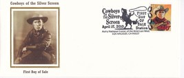 William S Hart Cowboys Of The Silver Screen Los Angeles Ca 4/17/2010 Fdc Silk - $4.98
