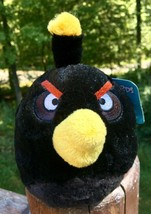 "Angry Birds Black Bomb No Sound Plush 5"" Commonwealth Rovio Stuffed Anim... - $2.97"