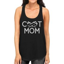 Cat Mom Women's Black Cute Design Cotton Tanks Gifts For Cat Lovers - $14.99