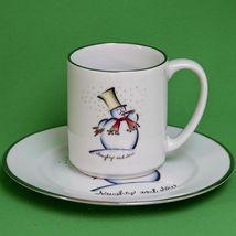 Vintage Designed By Rosanna (Italy) Holiday Snowman Coffee Mug & Plate Set - $5.95