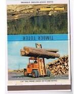 KELOWNA British Columbia Matchbook Timber Toter Inland Equipment Grant-Mann - $1.89
