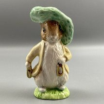 Beatrix Potter Benjamin Bunny BP9b Figurine Beswick Ware Gold Royal Doul... - $39.59