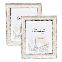 8x10 Picture Frame Distressed Cream - 2 Pack - Mount Desktop Display, Fr... - £15.09 GBP