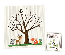 """Lillian Rose Woodland Baby Shower Guest Signing Canvas, Neutral, 11.75"""" - $17.41"""